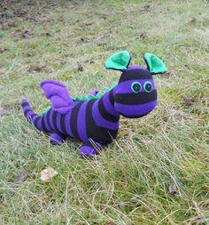 Sock dragon sock animal soft sculpture by TreacherCreatures