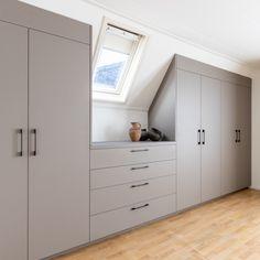 Attic Bedroom Closets, Attic Bedroom Storage, Attic Bedroom Small, Attic Bedroom Designs, Loft Storage, Attic Rooms, Bedroom Layouts, Closet Bedroom, Home Bedroom