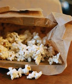 Save Money: Make Your Own Microwave Popcorn -- from The Family Kitchen. This works GREAT!
