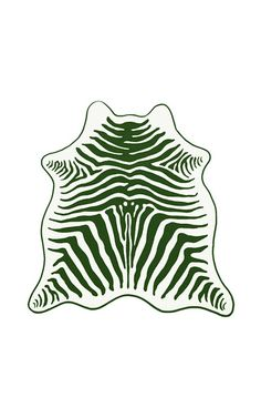 Foliage green zebra hide beach towel by MASLIN & CO for Preorder on ...