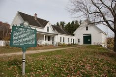 Robert Frost Farm - Derry, New Hampshire. Home of my favorite poet.