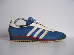 1968 and adidas brought us the Achill running shoe as seen here. It sold during the late 60's and 70's and was then superseded by the SL72. It was then re-issued by adidas in 2011 in a number of colourways