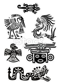 Illustration about Set - American Indian traditional patterns. Illustration of design, culture, eagle - 16985261 Native Art, Native American Art, American Indians, American History, Aztec Symbols, Viking Symbols, Egyptian Symbols, Viking Runes, Ancient Symbols