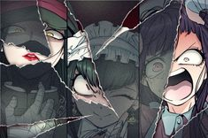 For fans of the murder-mystery visual novel series Danganronpa. New Danganronpa V3, Danganronpa Characters, Super Danganronpa, Anime Characters, Fanart, Mikan Tsumiki, Nagito Komaeda, Another Anime, Otaku