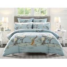 NOW $139.95 (Was $179.95) on Dahlia Queen Quilt Cover - Soft Blue @ Bed Bath n` Table - Bargain Bro