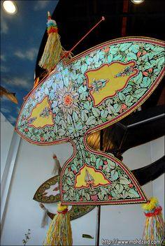 Wau, malaysian kite - traditioneller malaysischer Drache