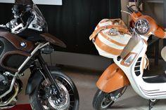 Two different icone. BMW GS 1200 vs Vespa Gts 300  Customized byt Bottega Conticelli