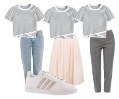 """""""Untitled #58"""" by molar on Polyvore featuring Piazza Sempione, Topshop, adidas and stripes Topshop, Stripes, Adidas, Shoe Bag, Polyvore, Stuff To Buy, Shopping, Collection, Design"""