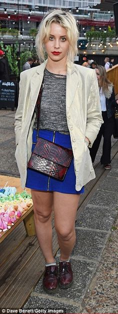 6fb32342bf68 Summer style  TV presenter Billie JD Porter showed off her sense of style  in a blue mini skirt and brogues while model Lilah Parsons was pretty in  florals