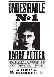 Harry Potter - Movie Poster (Wanted: Undesirable No. 1 - Harry Potter) (Size: 24 inches x 36 inches) Objet Harry Potter, Magia Harry Potter, Harry Potter Bricolage, Décoration Harry Potter, Harry Potter Thema, Harry Potter Bedroom, Mundo Harry Potter, Harry Potter Cosplay, Harry Potter Tumblr