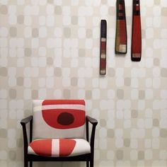 Image of stoney clay wallpaper love the idea of doing a subtle print on fabric New Wallpaper, Fabric Wallpaper, Wall Paint Treatments, Interior Design Business, Pretty Room, Framed Fabric, Inspirational Wallpapers, Textured Walls, Surface Design