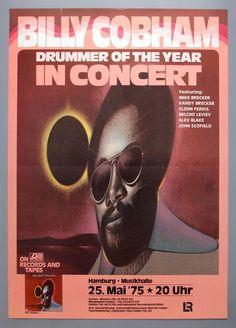 BILLY COBHAM - rare vintage original Hamburg 1975 jazz concert poster
