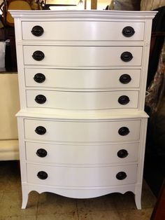 Chalk Painted Dressers Diy Dresser As Nightstand Olympic Paint White All Things New Furniture Vintage