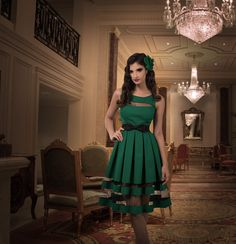 🎀 Kitten D'Amour: D'Amour Peekaboo Panel Dress (Emerald) -new vintage pinup rockabilly - black emerald green, transparent, gauze   🎀Buy Recent Collections: http://www.kittendamour.com/brand_collections  🎀Buy & Sell Old Collections: https://www.facebook.com/groups/1384135828515551/