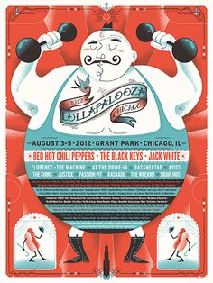 Lollapalooza 2012 poster by Delicious Design League