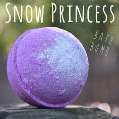 Snow Princess Bath Bomb by MeltAwayBathBombs on Etsy https://www.etsy.com/listing/468861220/snow-princess-bath-bomb