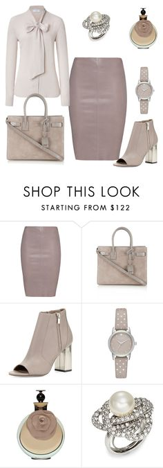 """""""Devine by Lin's Fashion"""" by amimareelynn ❤ liked on Polyvore featuring Jitrois, Pussycat, Yves Saint Laurent, Vince, Kate Spade and Oscar de la Renta"""
