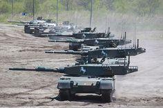 dicksmcghee: Type 90s and Type 74s of the JGSDF.