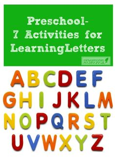 For some kids, learning the alphabet comes easily. For those that aren't language minded, try one (or all) of these 7 activities to help preschoolers learn the alphabet!