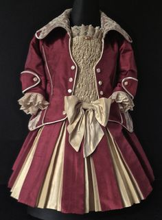 """Antique reproduction lined Silk doll dress for 20"""" Doll by DollCoutureBoutique via Etsy  $153.77 USD (Germany)"""