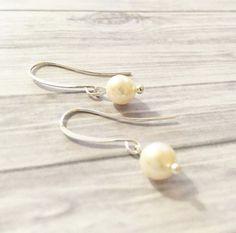 Minimalist Pearl Earrings, Elegant Earrings, Silver Earrings Simple Bohemian Hobo Style Earrings, Gift Ideas