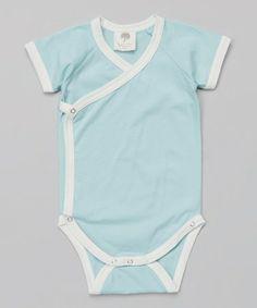 Look what I found on #zulily! Skye Short-Sleeve Organic Wrap Bodysuit - Infant #zulilyfinds