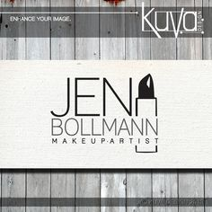 Black and white Jen Bollmann Makeup Artist logo