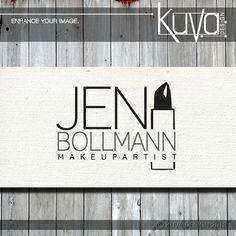 Black and white Jen Bollmann Makeup Artist logo