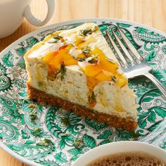 Cashel Blue Cheesecake with Honey - Rachael Ray In Season Savory Cheesecake, Cheesecake Recipes, Appetizer Recipes, Dessert Recipes, Yummy Appetizers, Fruit Recipes, Easy Desserts, Savory Tart, Appetisers
