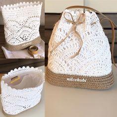 Again, I wish everyone a pleasant weekend with pure and white who has already gone to the owner .- Yine çoktan sahibine giden saf ve beyazla herkese keyifli bir hafta sonu diliyo… Again to the master with pure and white … - Crochet Tote, Crochet Handbags, Crochet Purses, Crochet Stitches, Knit Crochet, Crochet Patterns, Free Crochet, Crochet Shoulder Bags, Macrame Bag