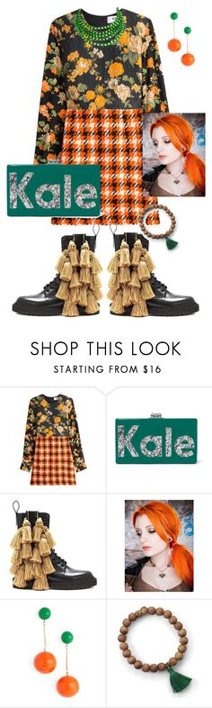 """""""KALE"""" by glamourgrammy ❤ liked on Polyvore featuring MSGM, Edie Parker, Burberry, J.W. Anderson and BillyTheTree"""