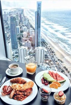 Finally time to relax, and take in the breathtaking Gold Coast views. Perfectly paired with a laid-back brunch Bistro + Bar. Beach Honeymoon Destinations, Breakfast Desayunos, Good Food, Yummy Food, Snack, Cravings, Food Photography, Food Porn, Food And Drink