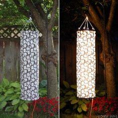 Fabric Windsock Garden Lantern