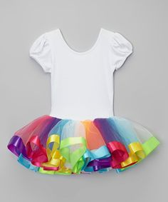 Take a look at this Rainbow Ballet Dress - Infant, Toddler & Girls today!