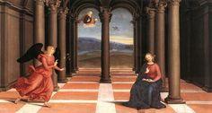 Raffaello Sanzio da Urbino, known as Raphael — The Annunciation, : Vatican Jan Van Eyck, Hieronymus Bosch, Italian Renaissance, Renaissance Art, School Of Athens, List Of Paintings, In Loco, Giorgio Vasari, Italian Painters