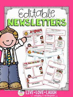 Live, Love, Laugh Everyday in Kindergarten: Parent Communication {Newsletters and Calendars} Teaching Tools, Teacher Resources, Teaching Ideas, Teaching Supplies, Primary Teaching, School Resources, School Supplies, Classroom Organization, Classroom Management