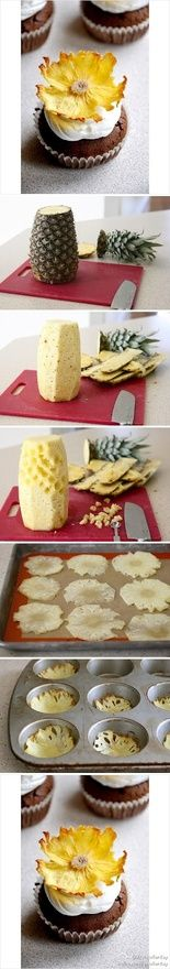 Pineapple Flowers-very cool idea!