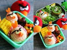 What kid wouldn't have at least a few bites of this angry bird lunch!!?