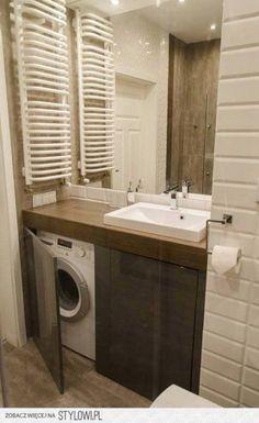 Ideas for bathroom ideas small modern washing machines Ikea Bathroom, Laundry In Bathroom, Budget Bathroom, Bathroom Flooring, Bathroom Storage, Bathroom Interior, Modern Bathroom, Master Bathroom, Bathroom Ideas