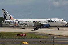 Jet Blue Airbus A320-232 tenth anniversary livery