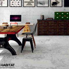 Agrégale un toque único y elegante a tus espacios con el porcelanato #Habitat