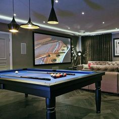 Retire with select company, enjoy a drink, and discover the top 80 best billiards room ideas. Explore pool table focused designs with wet bars and lounges. Best Pool Tables, Billards Room, Basement Pool, Basement Ideas, Basement Designs, Basement Remodeling, Bathroom Remodeling, Basement Ceilings, Basement Makeover