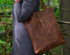 Leather Laptop Bag  Leather Laptop Tote Bag  Leather by Babak1995
