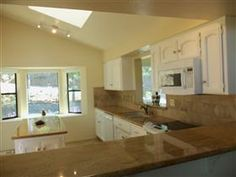 Lots of natural lighting in kitchen