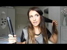 ▶ Hair Tutorial: how to do big waves with a Remington curling iron [Lockenstab] - YouTube