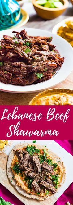 Thinly sliced, tender pieces of beef packed with tons of Middle Eastern spices! Wrap this beef with homemade hummus, tabouli and fresh onions and you have yourself a delicious beef shawarma!