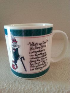 Check out this item in my Etsy shop https://www.etsy.com/listing/240672116/1992-bugs-bunny-whats-up-doc-mug-by