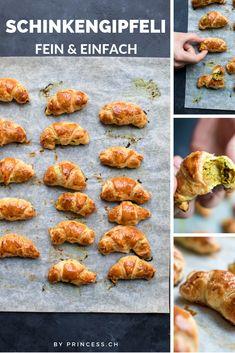 Die besten Schinkengipfeli! Snacks, International Recipes, Creative Food, Tandoori Chicken, Finger Foods, Tapas, Cooking, Dinner, Ethnic Recipes