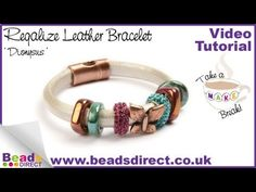 Use regaliz leather to create a chunky charm bracelet. Just choose your charms and slide over the leather.    Take a make break with Stacy and Claire and let them show you how to create a regaliz leather bracelet for yourself.    See more of our regaliz leather bracelets:  http://www.beadsdirect.co.uk/gallery/detail/hemera-bracelet/  http://www.beadsdirect.co.uk/gallery/detail/eris-bracelet/