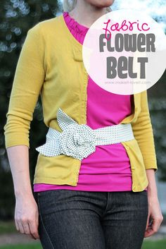 Fabric Flower Belt Tutorial